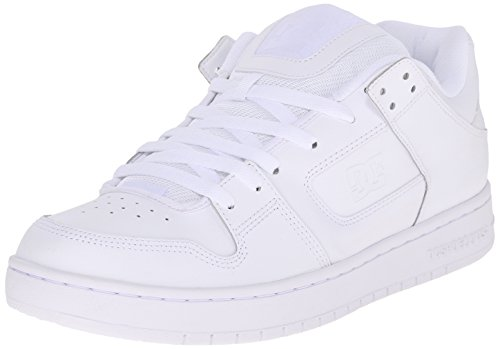 DC Men's Manteca Skate Shoe, White/White/White, 10 M US