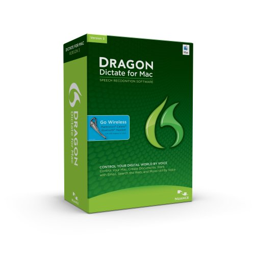 NUANCE COMMUNICATIONS Dragon Dictate for Mac 3.0, Bluetooth with KeyCard