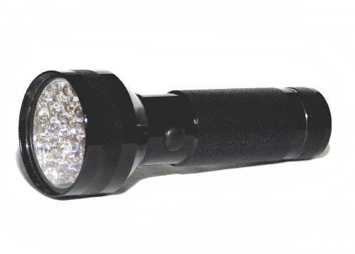Keystone 28BK 28-LED Super Bright Aluminum Flashlight with Batteries,  Black