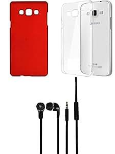 NIROSHA Cover Case Headphone for Samsung Galaxy J5 - Combo