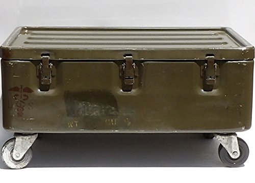 Military Trunk Coffee Table Foot Locker on Wheels 5
