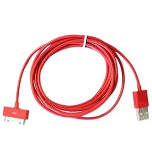 Buena calidad 2 Meter 30 pines Usb cable / plomo (rojo) compatiable para Apple Ipad3, Ipad2, Ipad 3G, 3GS, 4, 4s y series Ipod en BebeHogar.com