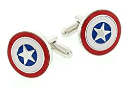 JJ Weston Patriotic Star Cufflinks. Made in the USA.