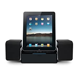 iLuv iMM747 Audio Cube Hi-Fidelity Speaker Dock for the  Apple iPad -3G / iPad 2 WiFi / 3G Model 16GB, 32GB, 64GB EST Model for Apple iPhone 4 and iPhone 4S and iPod Touch -Black