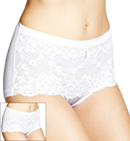 2 Pack Per Una Floral Lace High Rise Shorts