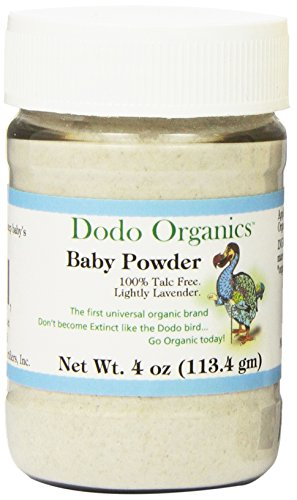 Dodo Organics Baby Powder, 4-Ounce Jar