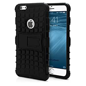 Store@urdoor Kick Stand Series - Black Dual Layer Shockproof Rugged Hybrid Case for Xiaomi Redmi Note 3 / Xiaomi Redmi Note 3 Pro
