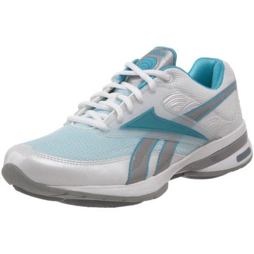 Reebok Women's Easytone Reeinspire II Walking Shoe,White/Glacier Blue/Aqua Fantasy/Silver,9.5 M US