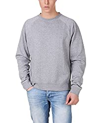Aventura Outfitters Round-Neck Full Sleeve Solids Grey Fleece Sweatshirt- XL (AOSW01-XL)