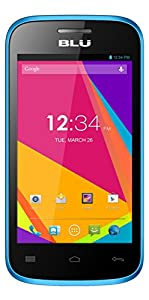 BLU Dash JR 4.0K Android 4.2, 2MP - Unlocked (Blue)
