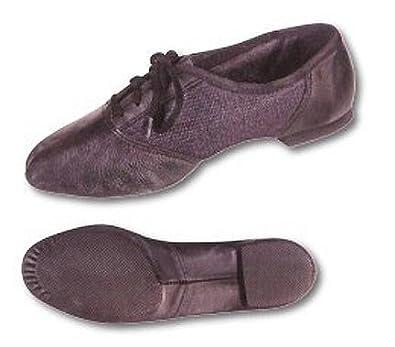 Adult Black Combo Split Sole Jazz Shoes