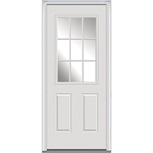 National Door Company Z000511r Fiberglass Smooth Primed Right Hand In Swing Prehung Front Door