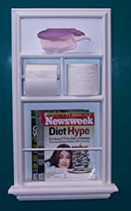 Mr 8 solid wood recessed in the wall bathroom magazine rack kleenex tissue for Recessed in the wall bathroom magazine rack