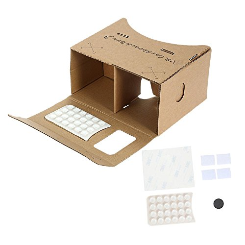 "New DIY Google Cardboard VR Box Virtual Reality Headset 3D VR Glasses Movie Games Head-Mounted For 3.5"" ~ 6.2"" Smartphones"