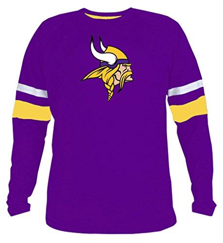 Mens Vikings Athletic Contrast Cotton T-Shirt