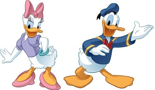 "Donald Duck And Daisy Mega Decal Pack - Includes 1 Giant Donald Wall Decal 39.25"" X 37"" And 1 Giant Daisy Wall Decal 27.5"" X 38.75"" front-1004288"