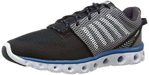 K-Swiss Men's X Lite Cross-Training Shoe, Black/Griffin/Mykonos Blue, 8.5 M US