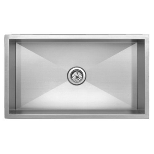 "Mirabelle MIRUC3321Z 33"" Single Basin Stainless Steel Kitchen Sink - Undermount, Stainless Steel"