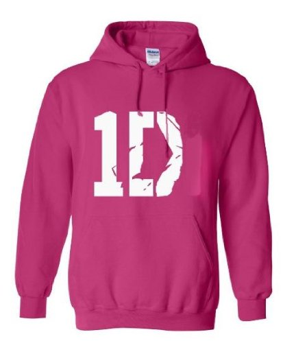 I Love 1D One Direction Hoodie Sweatshirt Jacket In Pink Adult And Youth Sizes (Large)