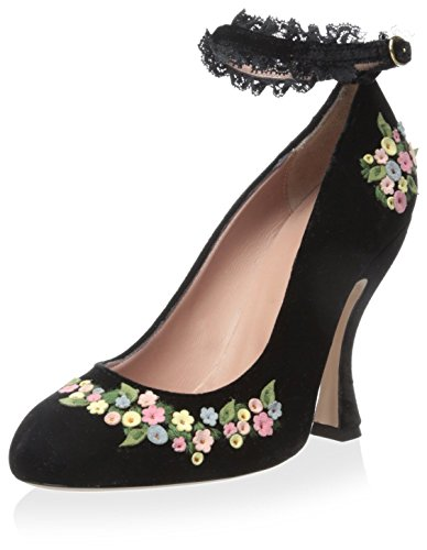 RED Valentino Womens Pump with Ankle Strap Black 39 M EU 9 M US