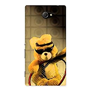 Ajay Enterprises Teddy Racket Back Case Cover for Sony Xperia M2