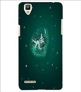 PrintDhaba Zodiac Pisces D-5518 Back Case Cover for OPPO F1 (Multi-Coloured)