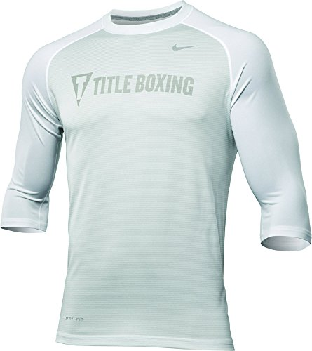 TITLE Boxing Nike Dri-Fit Touch 3/4 Raglan Tee - White - X лонгслив nike лонгслив dri fit contour long sleeve