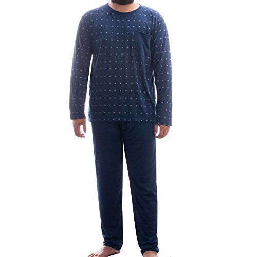 lucky-mens-polka-dot-long-sleeve-pyjama-set-blue-navy