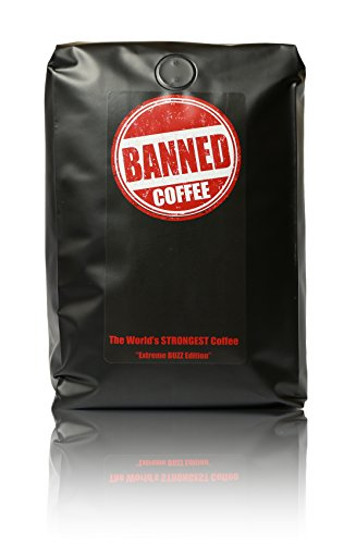 Banned Coffee Whole Bean 2 pounds | The World's Strongest Coffee | Super Strong Caffeine Content | Our Best Medium Dark Roast Blend | 2 lb (32 ounces) WB (Coffee Bean French Brew Pods compare prices)