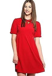 XnY Women's Dress (DR 1020001 B_16_Red)
