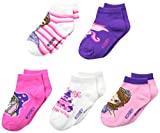 Sofia the First Little Girls'  5 Pack Ankle Socks