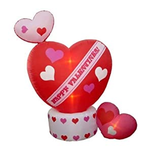 8' Airblown Inflatable Animated Hearts Lighted Valentine's Yard Art Decoration
