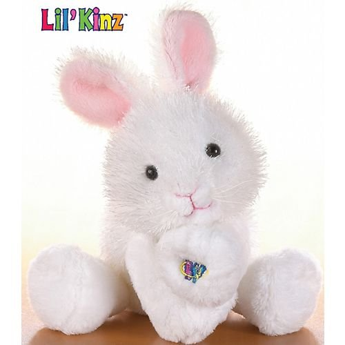 Lil'Kinz Mini Plush Stuffed Animal White Rabbit