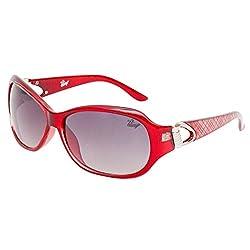 Bling Black Gradient Mercury finish Oval Sunglasses for Women BS1005 007)