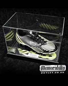 Signed Steven Gerrard Adidas TRX Yellow Football Boot- Acrylic Case Liverpool FC by MemorabiliaOutlet