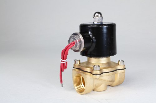 "1Pcs Ac 110V 3/4"" 2Way 2Position Electric Solenoid Valve Water Air Gas N/C Gas Water Air 2W200-20 Bsp Normal Closed"