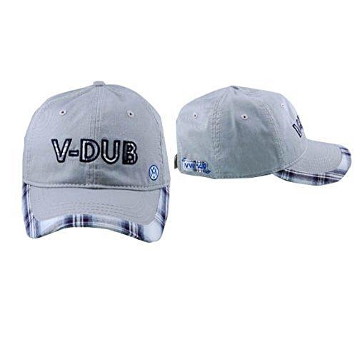 Vw Silver V-Dub Plaid Cap