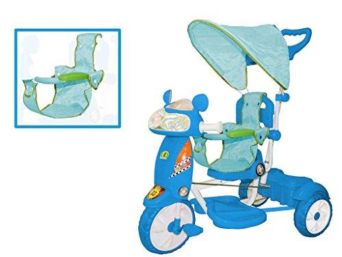 Triciclo per bambini Motosprint Boy con cappottina regolabile