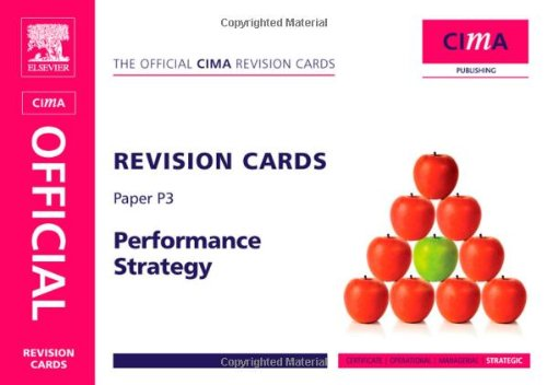 CIMA Revision Cards Performance Strategy, Second Edition