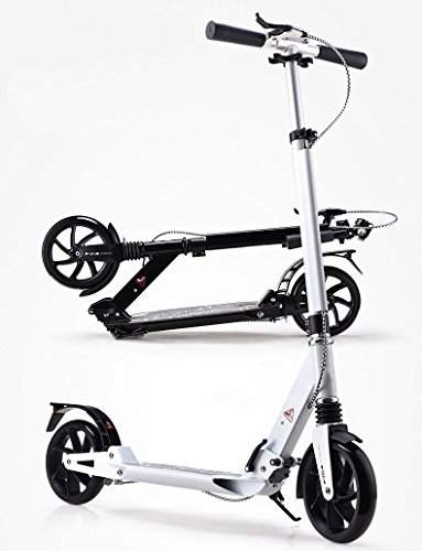 Hand Brake System Kick Scooter High Quality Adjustable Foldable Portable for Adult and Youth with Front and Rear Suspension / Shock Absorber