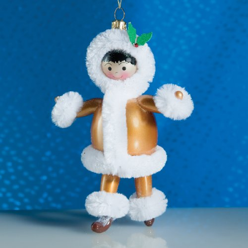 De Carlini Esquimo Eskimo Italian Mouthblown Glass Christmas Ornament