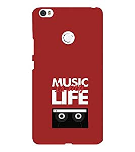 EPICCASE Music is my life Mobile Back Case Cover For Xiaomi Mi Max (Designer Case)