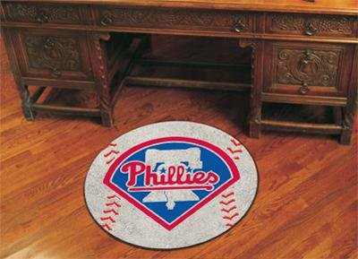 "Philadelphia Phillies 29"" Round Baseball Floor Mat (Rug) at Amazon.com"