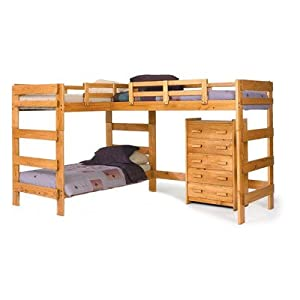 L-Shaped Bunk Bed from Chelsea Home