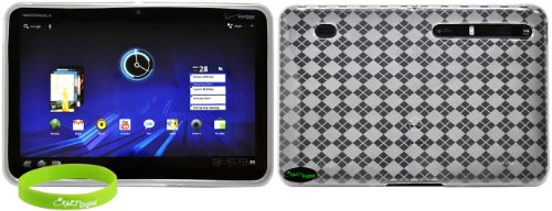 CrazyOnDigital Clear Soft Gel TPU Skin Case for the Motorola Xoom Android Tablet