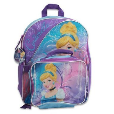 "Disney Cinderella 16"" Backpack with Matching Lunch Bag"
