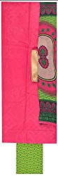 AARYA Women's Cotton Unstitched Salwar Suit with 2 Top Materials (Multi Color)