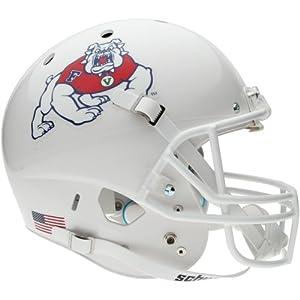 Schutt Fresno State Bulldogs Full Size Replica Football Helmet - White by Schutt