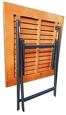 Flach & Stabiler Terassen / Gartentisch Klapptisch aus echtem Eukalyptus Holz , Alu Gestell Tisch klappbar von Oramics auf Gartenmöbel von Du und Dein Garten