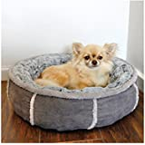 Rosewood 40 Winks Deep Plush Donut Bed, 20-inch , Grey